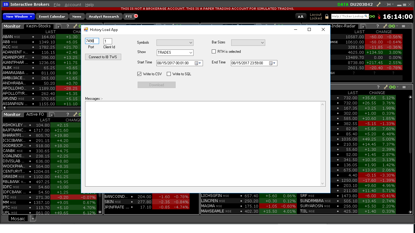 Interactive Brokers History Data Downloader